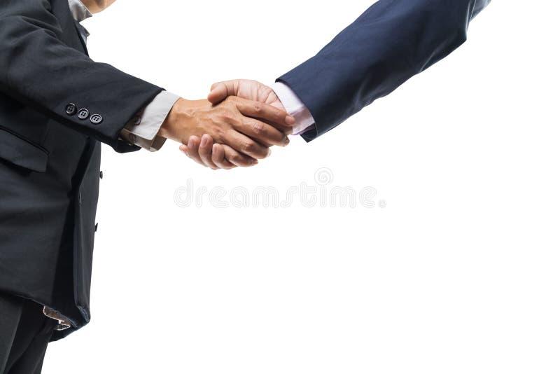 Dwa biznesmenów ręki Wykonawczy chwianie obraz stock