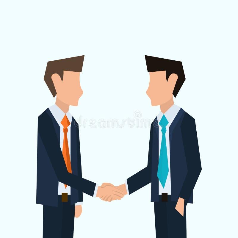 Dwa biznesmena trząść ich ręki Partnerstwo wektoru ilustracja ilustracja wektor