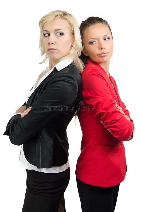 Dwa bizneswomanów stać kolejny obraz stock