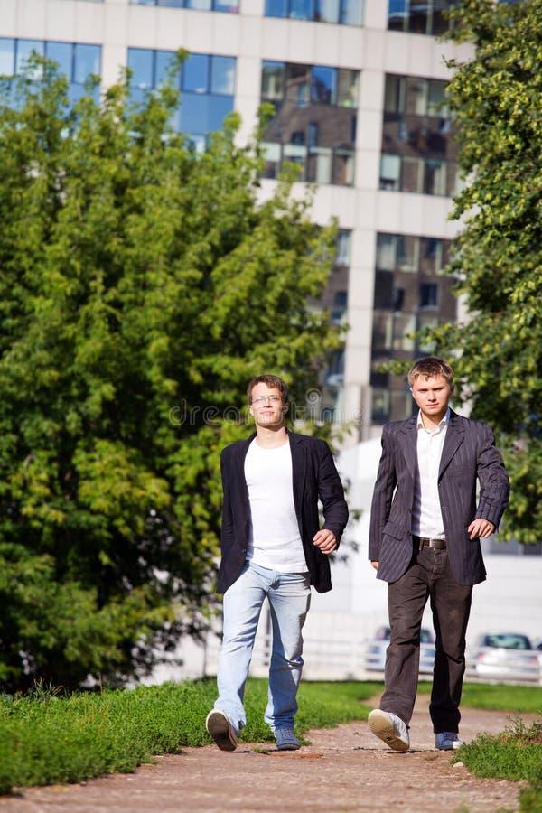 dwa businessme young fotografia stock
