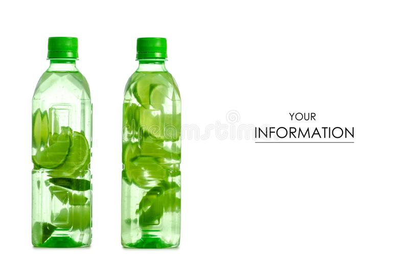 Dwa butelki woda z wapno wzorem fotografia stock