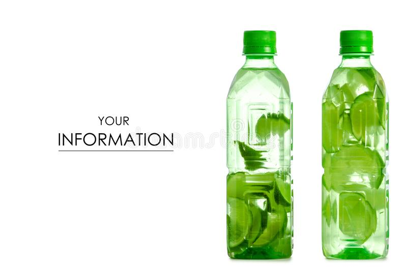 Dwa butelki woda z wapno wzorem obrazy royalty free