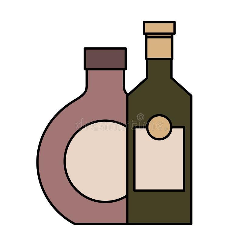 Dwa butelkują napoju trunek odizolowywającego projekt royalty ilustracja
