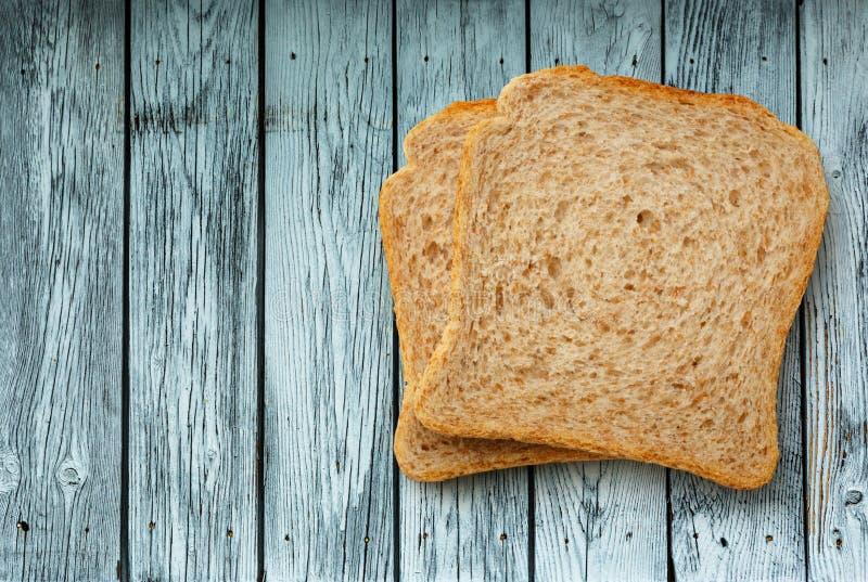 Dwa chlebowego plasterka obraz royalty free