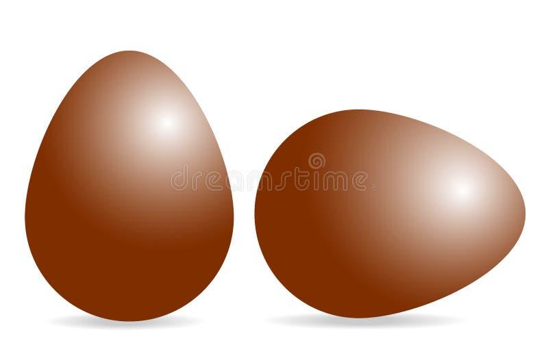 Dwa 3d czerwonobrunatnego jajka w pionowo i horyzontalnej pozyci ilustracji