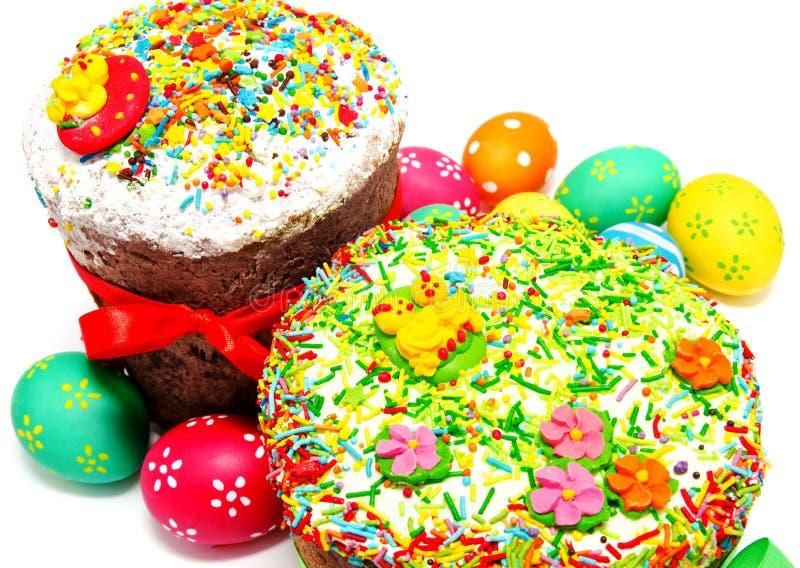 Dwa dekorującego Easter jajka i zdjęcie royalty free