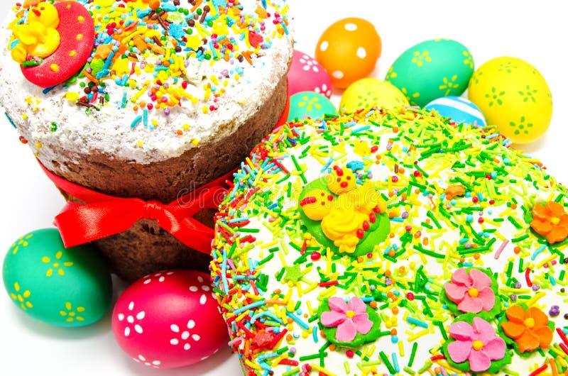 Dwa dekorującego Easter jajka i obraz royalty free