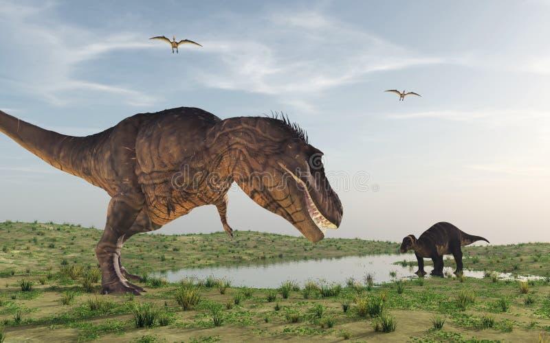 Dwa dinosaura ilustracja wektor