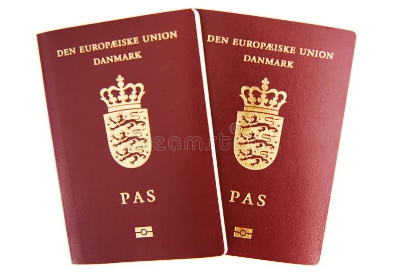 Dwa duńskiego paszporta fotografia royalty free