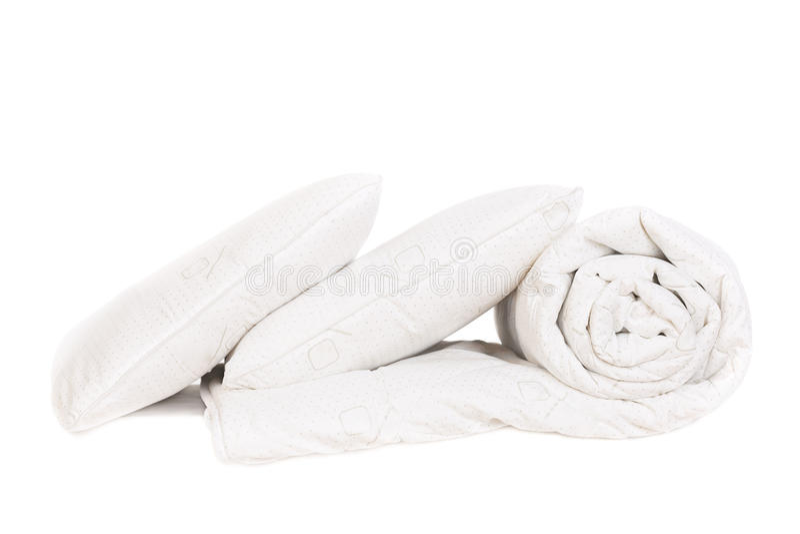 Dwa duvet i poduszki obraz stock