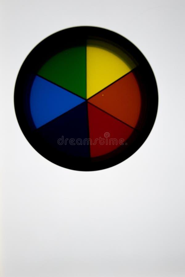 Dwa dyska z 3 początkowymi kolorami, &-x28; kolor żółty, błękit i red&-x29; overlapp obrazy stock