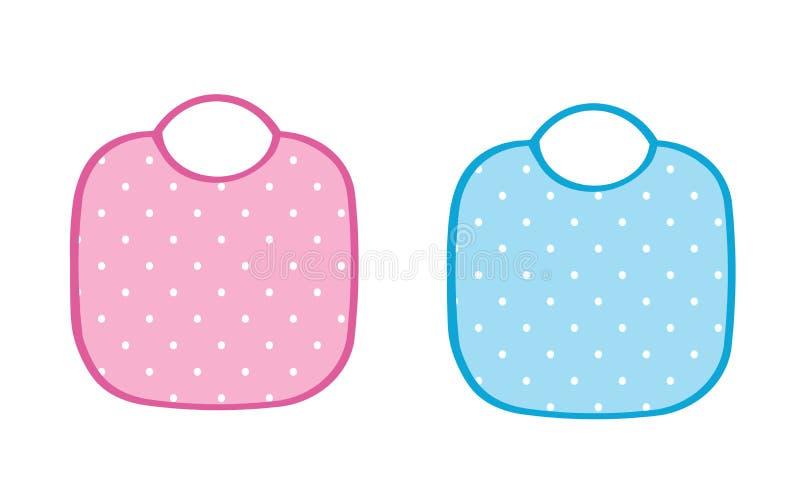 Dwa dziecka fartuchy, menchie i błękita, ilustracja wektor