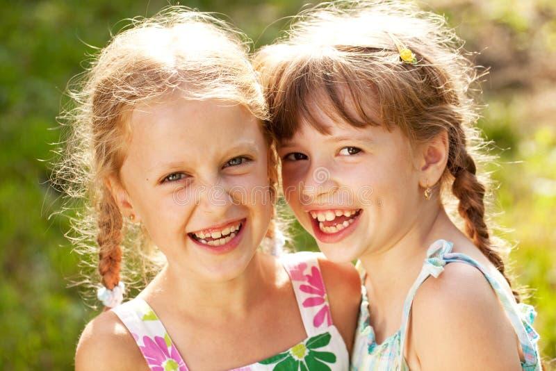 Dwa dziewczyny zdjęcia royalty free