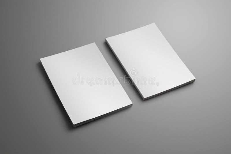 Dwa elegancki puste miejsce zamykał A4, A5 broszurki z miękki realistycznym ilustracji