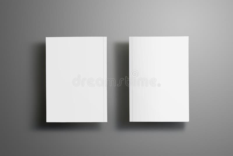Dwa elegancki puste miejsce zamykał A4, A5 broszurki z miękki realistycznym ilustracja wektor