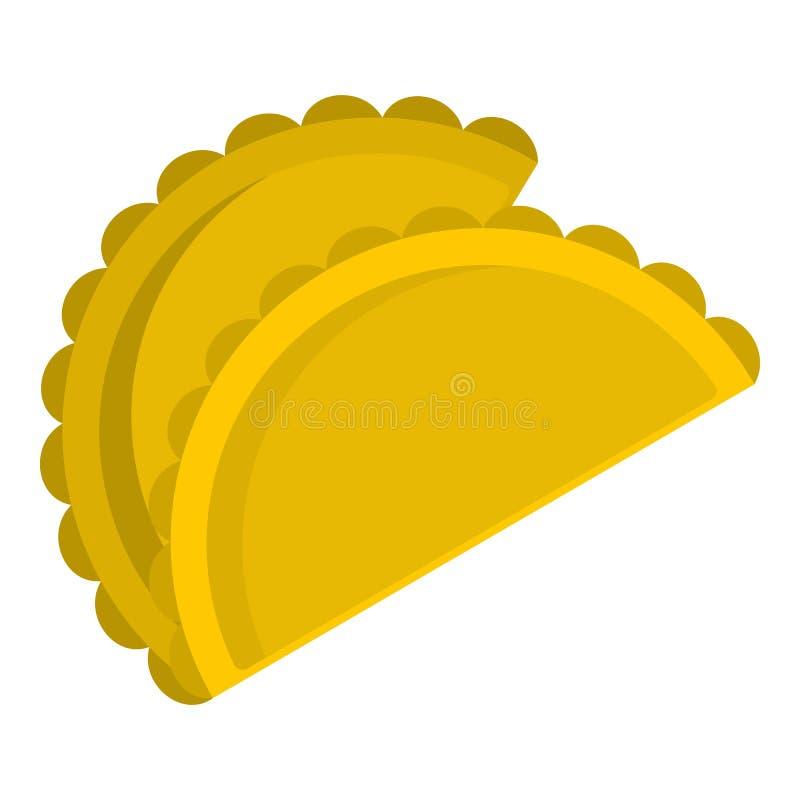 Dwa empanadas ikona odizolowywająca royalty ilustracja