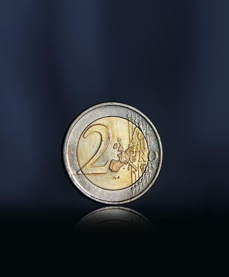 Dwa euro moneta zdjęcie stock