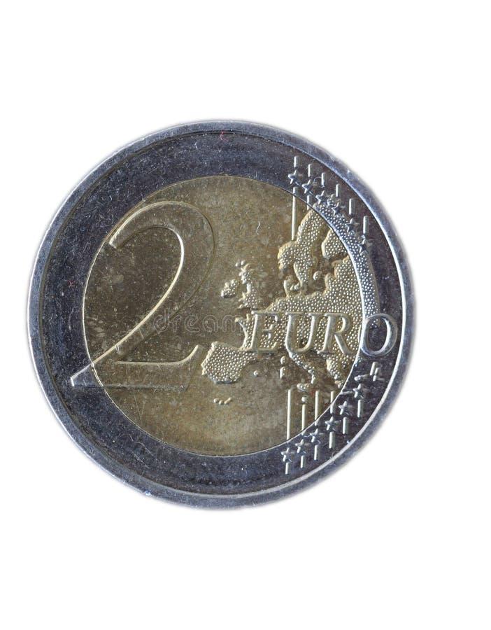 Dwa Euro Moneta zdjęcie royalty free
