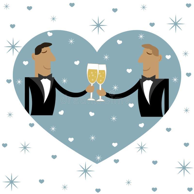 Dwa faceta piją wpólnie również zwrócić corel ilustracji wektora ilustracja wektor