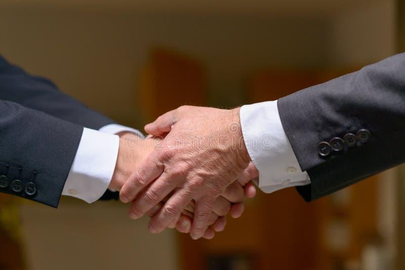 Dwa fachowego mężczyzna trząść ręki obrazy royalty free