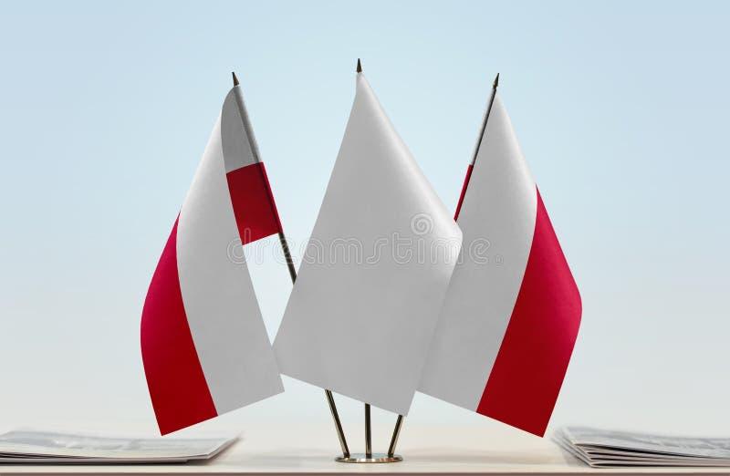 Dwa flaga Polska zdjęcie stock