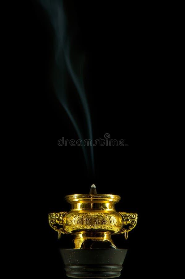 Dwa frankincense dym zdjęcia stock