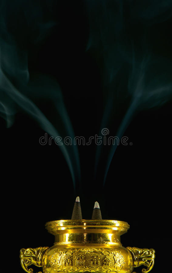 Dwa frankincense dym zdjęcia royalty free