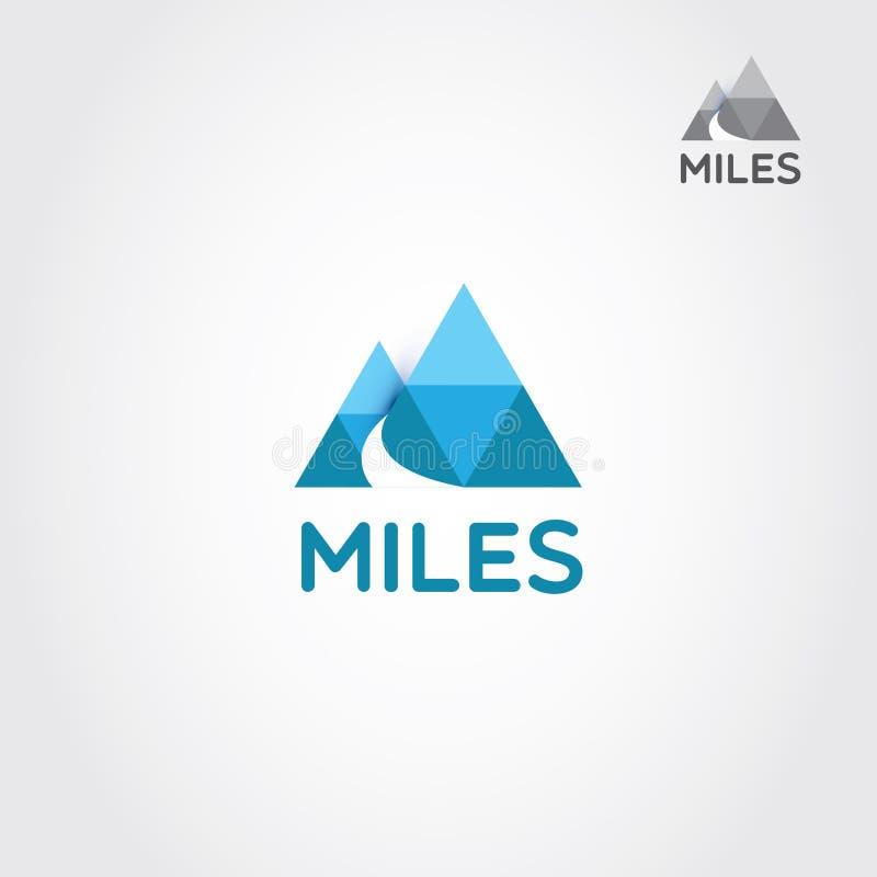 Dwa góra Z drogą I Listową M logo znaka symbolu ikoną ilustracja wektor