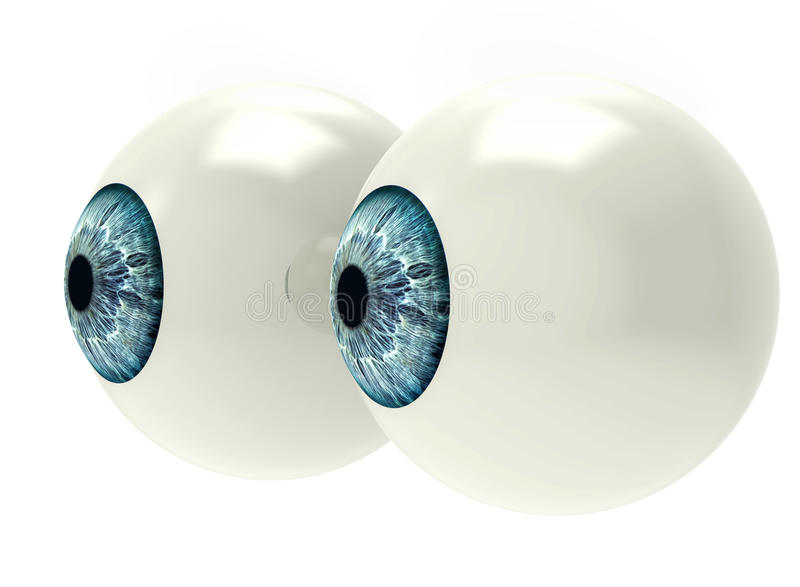 Dwa gałki ocznej na bielu obraz royalty free