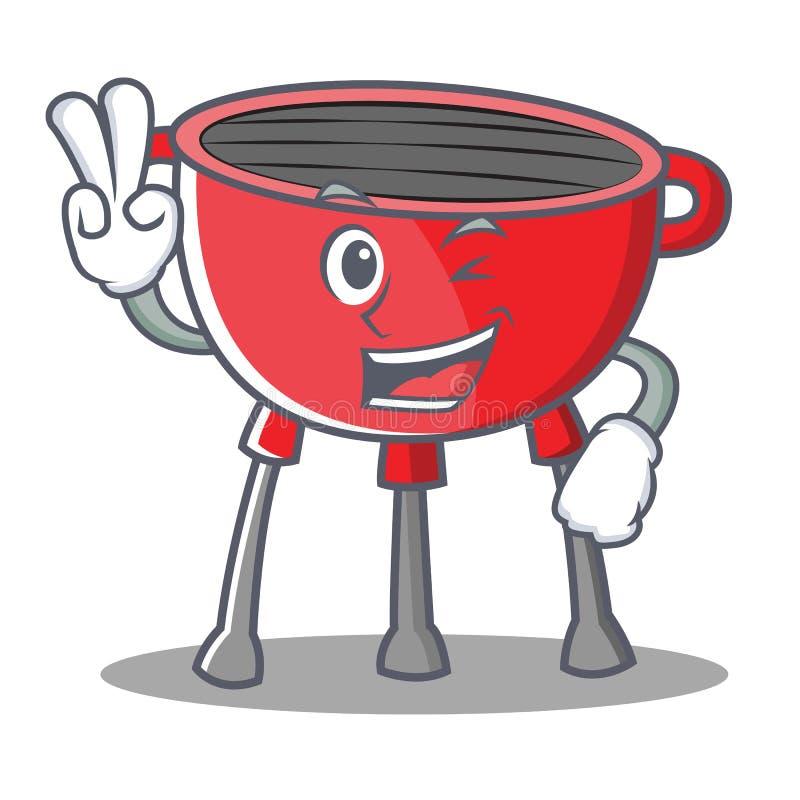 Dwa grilla grilla Palcowy postać z kreskówki ilustracji