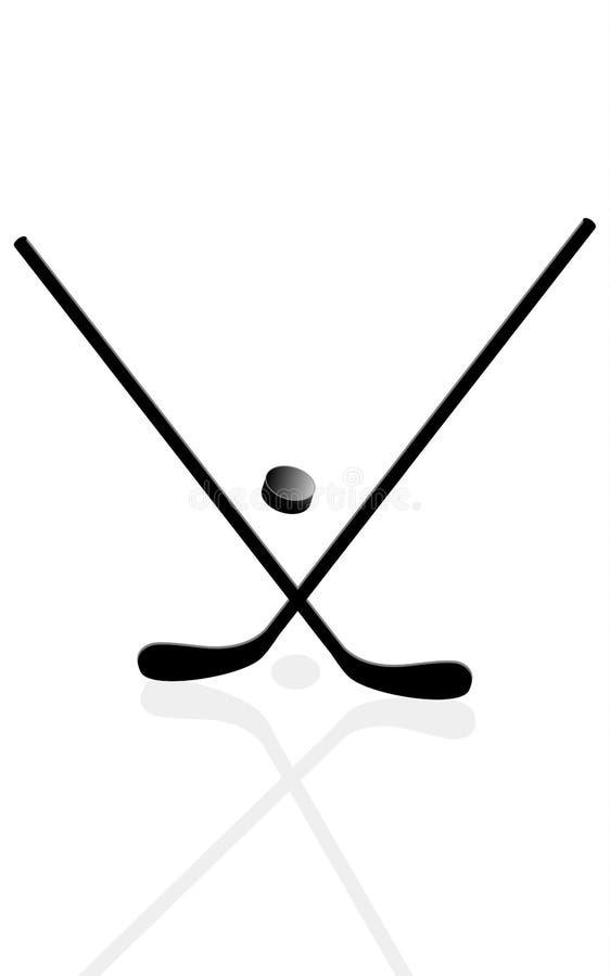 Dwa hokejowego kija ilustracji
