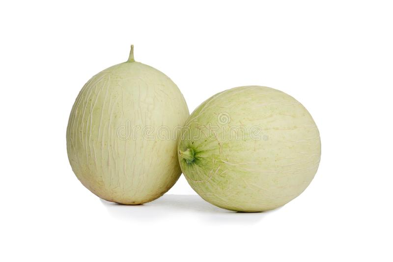 Dwa hybrydowego kantalup miodunki melonu zdjęcia royalty free