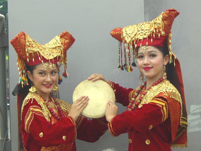 Dwa Indonezyjskiej dziewczyny fotografia royalty free