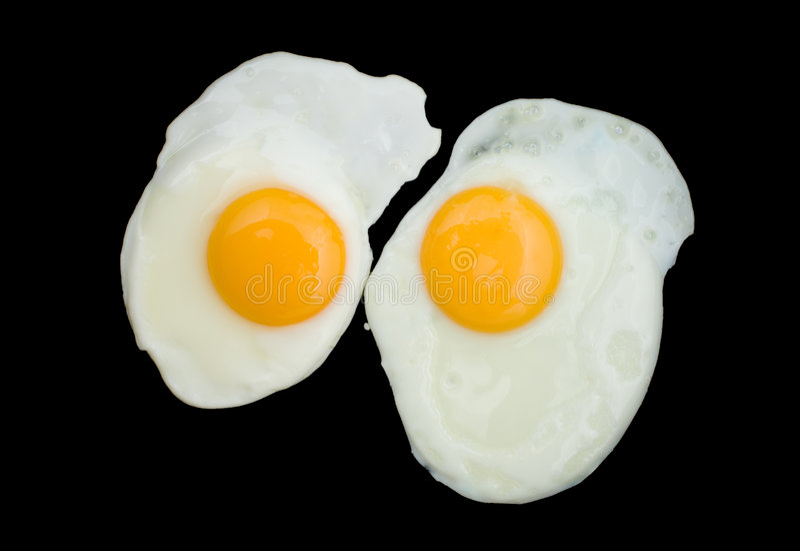 dwa jajka smażyli obrazy royalty free