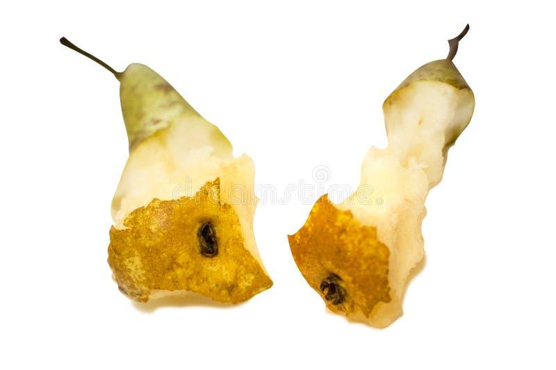 Dwa karcz odizolowywający na białym tle bonkreta, je dojrzałą słodką owoc zdjęcia royalty free