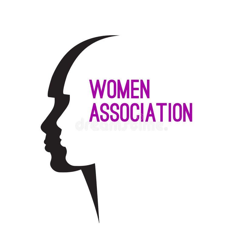 Dwa kobieta profil ilustracja wektor