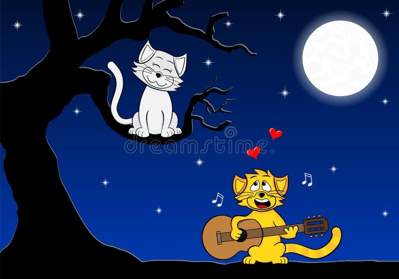 Dwa kochającego kota ilustracji