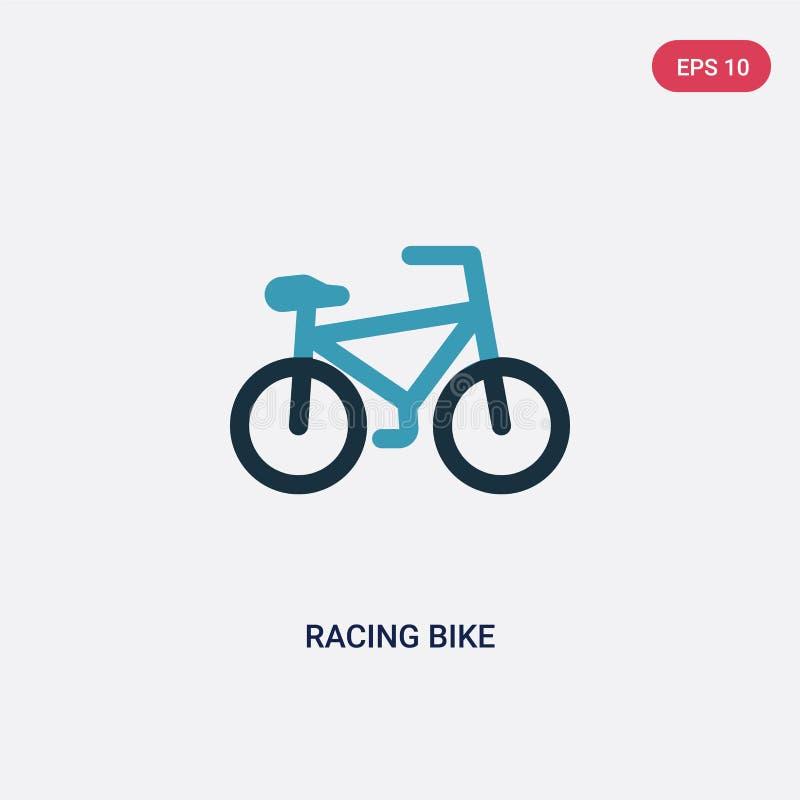Dwa kolor?w bie?nego roweru wektorowa ikona od sporta poj?cia odosobniony b??kitny bie?ny roweru wektoru znaka symbol mo?e by? u? ilustracji