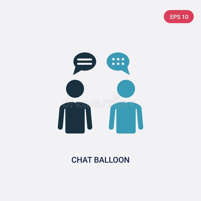 Dwa kolorów gadki balonu wektorowa ikona od ludzi pojęć odosobniony błękitny gadka balonu wektoru znaka symbol może być używa dla royalty ilustracja