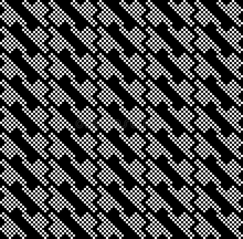 Dwa kolorów Geomatric powtórki wzoru abstrakcjonistyczny komputer wytwarzający wizerunek i tapetowy projekt ilustracja wektor