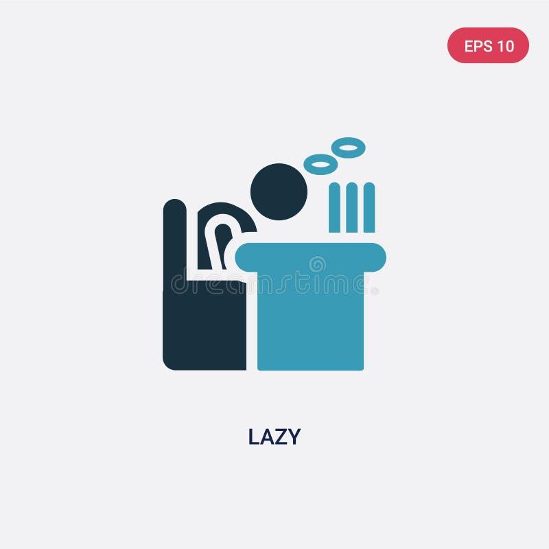 Dwa kolorów gnuśna wektorowa ikona od ludzi pojęć odosobniony błękitny gnuśny wektoru znaka symbol może być używa dla sieci, wisz ilustracji