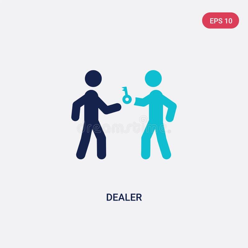 dwa kolorów handlowa wektorowa ikona od aktywności i hobby pojęcia odosobniony błękitny handlowa wektoru znaka symbol może być uż royalty ilustracja