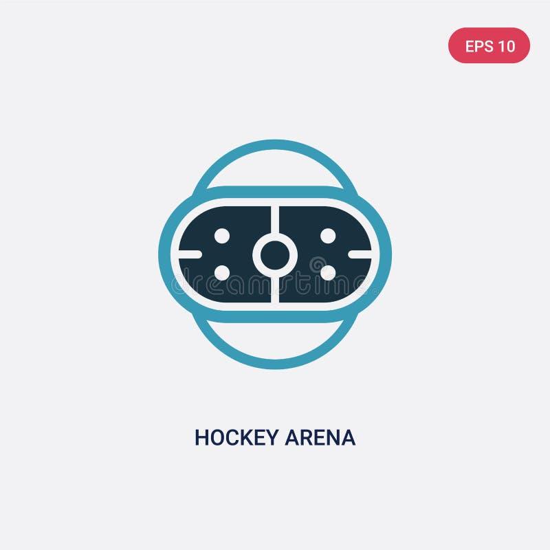 Dwa kolorów hokejowej areny wektorowa ikona od sporta pojęcia odosobniony błękitny hokejowy arena wektoru znaka symbol może być u ilustracja wektor