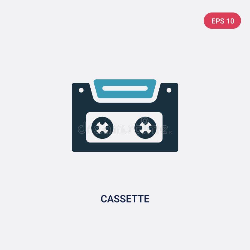 Dwa kolorów kasety wektorowa ikona od lata pojęcia odosobniony błękitny kaseta wektoru znaka symbol może być używa dla sieci, wis ilustracja wektor