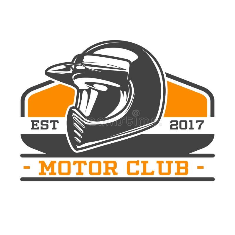 DWA kolorów MOTOROWY ŚWIETLICOWY emblemat ilustracja wektor