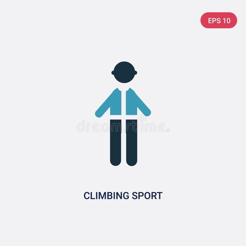 Dwa kolorów pięcia sporta wektorowa ikona od ludzi pojęć odosobniony błękitny pięcie sporta wektoru znaka symbol może być używa d royalty ilustracja