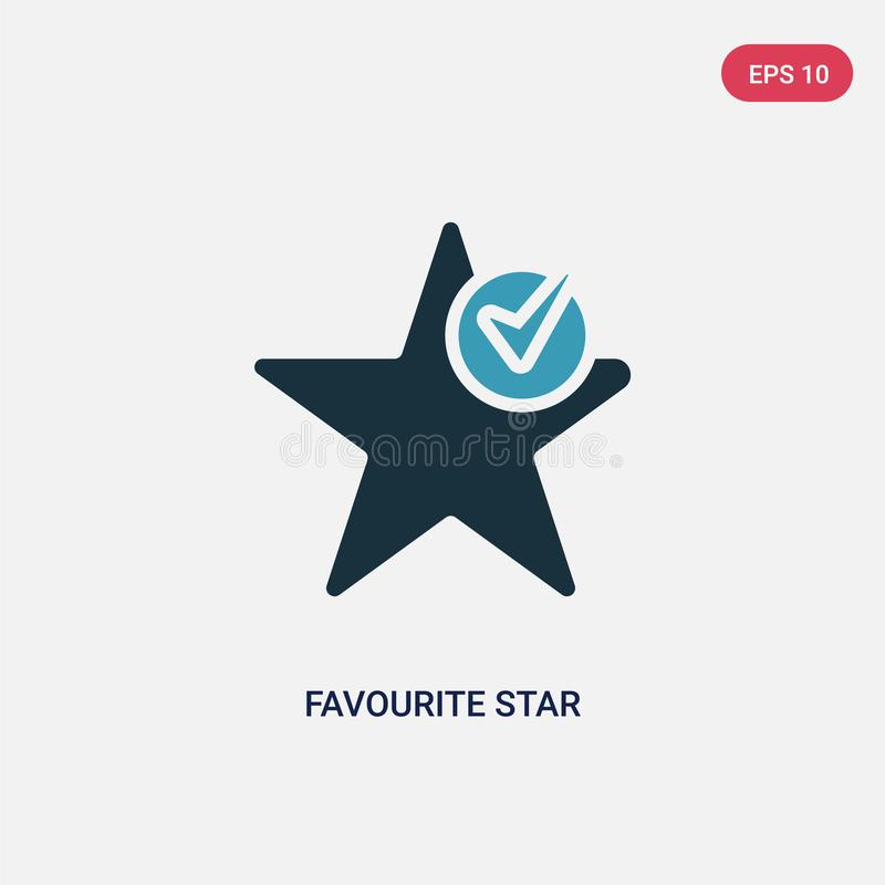 Dwa kolorów pupila gwiazdy wektorowa ikona od znaka pojęcia odosobniony błękitny pupil gwiazdy wektoru znaka symbol może być używ royalty ilustracja