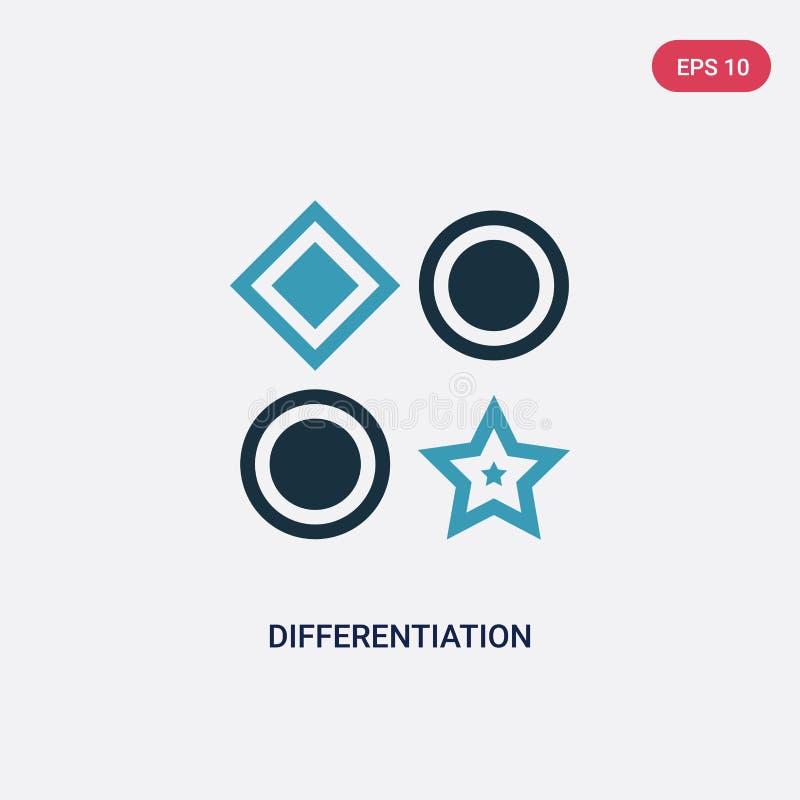 Dwa kolorów różnicowania wektorowa ikona od seo i sieci pojęcia odosobniony błękitny różnicowanie wektoru znaka symbol może być u ilustracja wektor