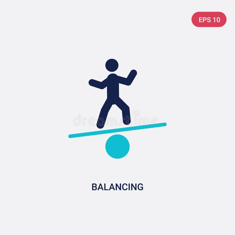 dwa kolorów równoważenia wektorowa ikona od aktywności i hobby pojęcia odosobniony błękitny równoważenie wektoru znaka symbol moż ilustracja wektor