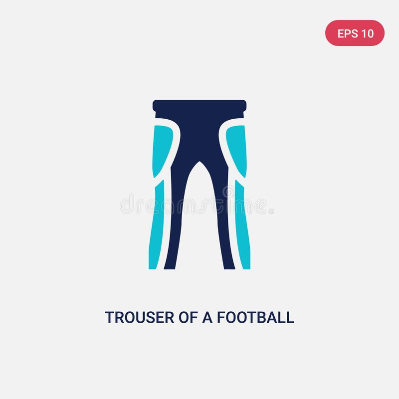 Dwa kolorów trouser gracz futbolu wektorowa ikona od futbolu amerykańskiego pojęcia odosobniony błękitny trouser gracz futbolu royalty ilustracja